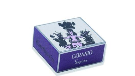 SAPONE ALLA GLICERINA GERANIO- 100 gr