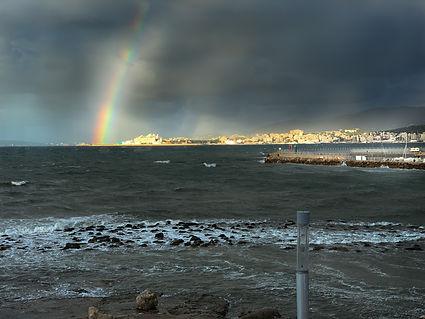 mallorca-beachhouse, rainbow, Palma de Mallorca, Regenbohen Mallorca