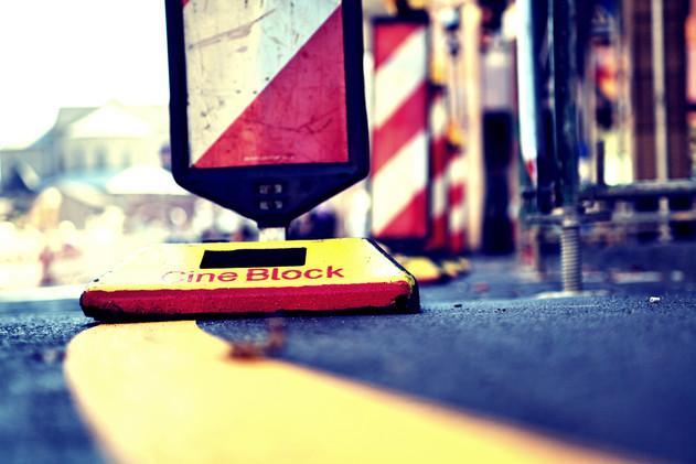 Gelbmarkierung, Baustelle,