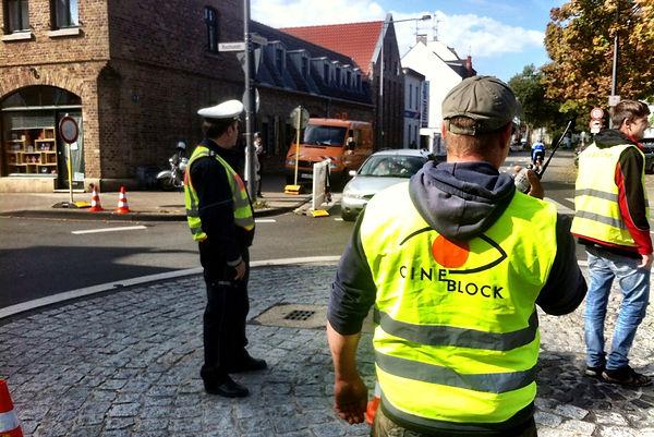 Einsatzleiter Absperrung, Verkehrssicherung, absicherung verkehr, polizei,