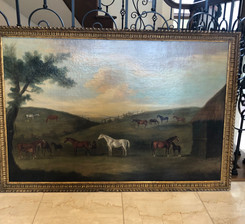 英国18世紀油絵