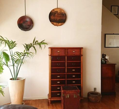 ウォールアート 木工皿