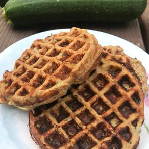 High Protein Zucchini Waffles