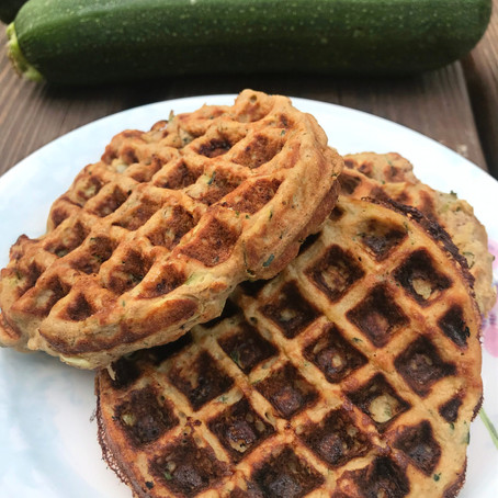 High Protein Zucchini Waffles