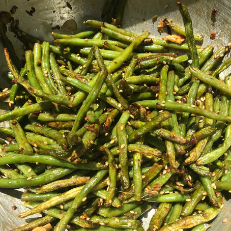 Air Fried Garlic Teriyaki Green Beans