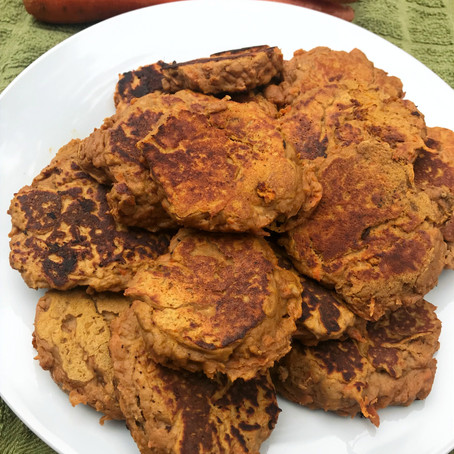 Carrot Sweet Potato (Protein) Pancakes