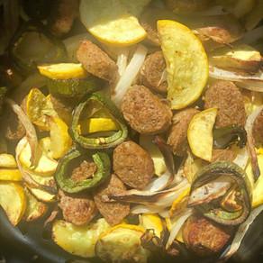 Vegan Sausage and Veggie Stir Fry