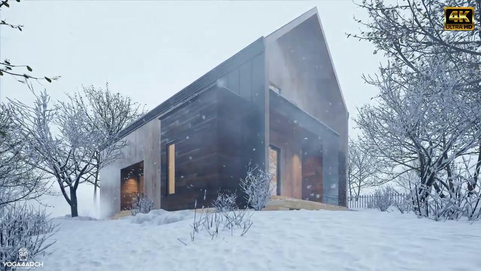Cabin in Snow 4K | D5 Render 1.8.0