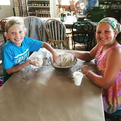 Bread making at kids camp!