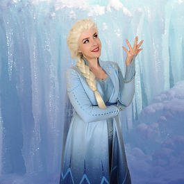 snow queen in ice caves