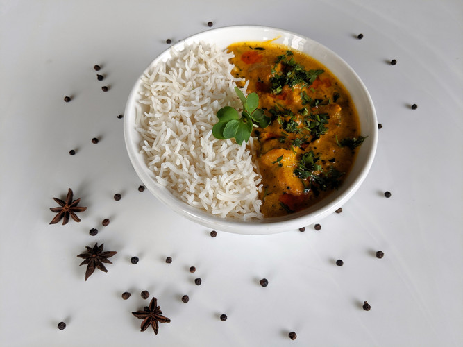 Goan Fish Curry Rice Combo