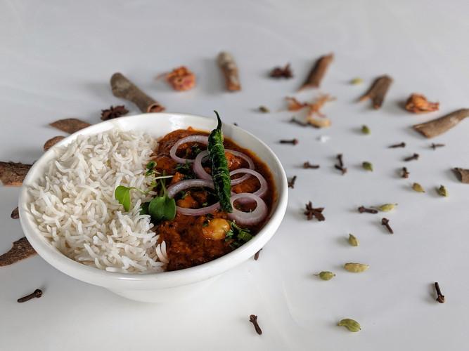 Chole-Chawal Rice Combo