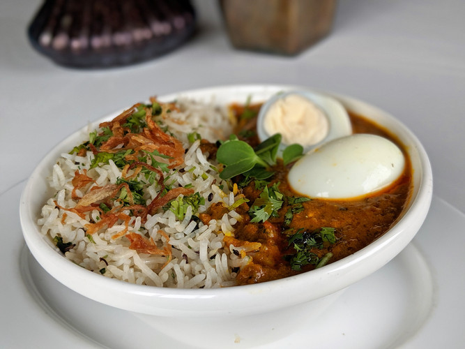 Egg Curry Rice Combo