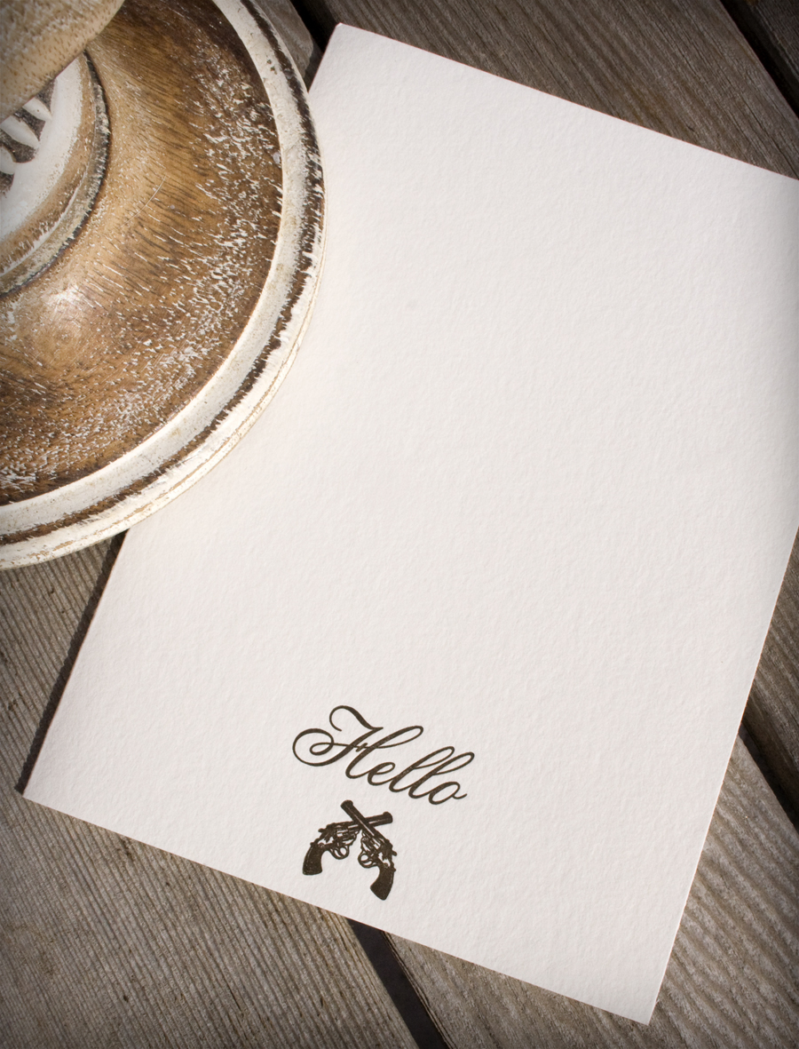 Hello Guns Letterpress