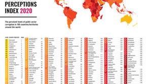 2020 оны Авлигын индексийг Transparency International танилцуулж байна.