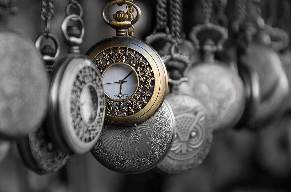 golden quartz pocket watch