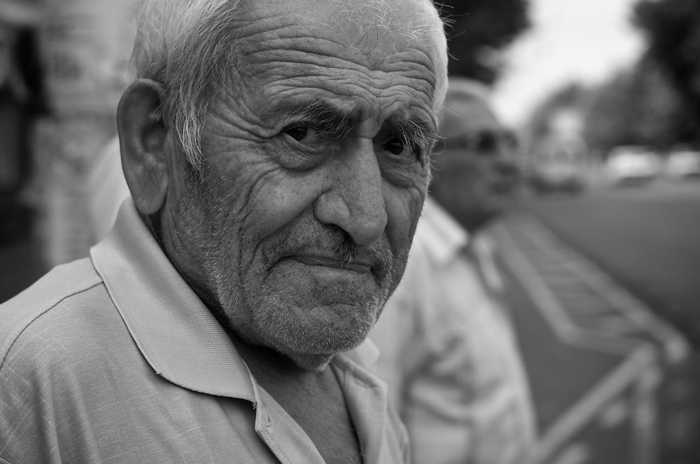 elderly man headshot