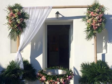 Exotic theme Chistenning in Mykonos