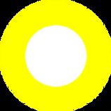 yellow doughnut white centre transparent