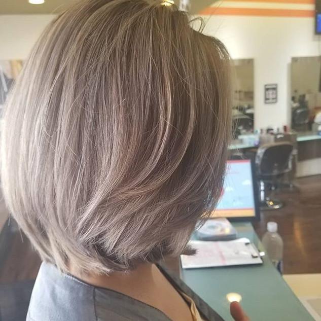 Ash Gray and Hair Cut #nofilter #lovemyh