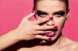 Bright Manicure and Lipstick