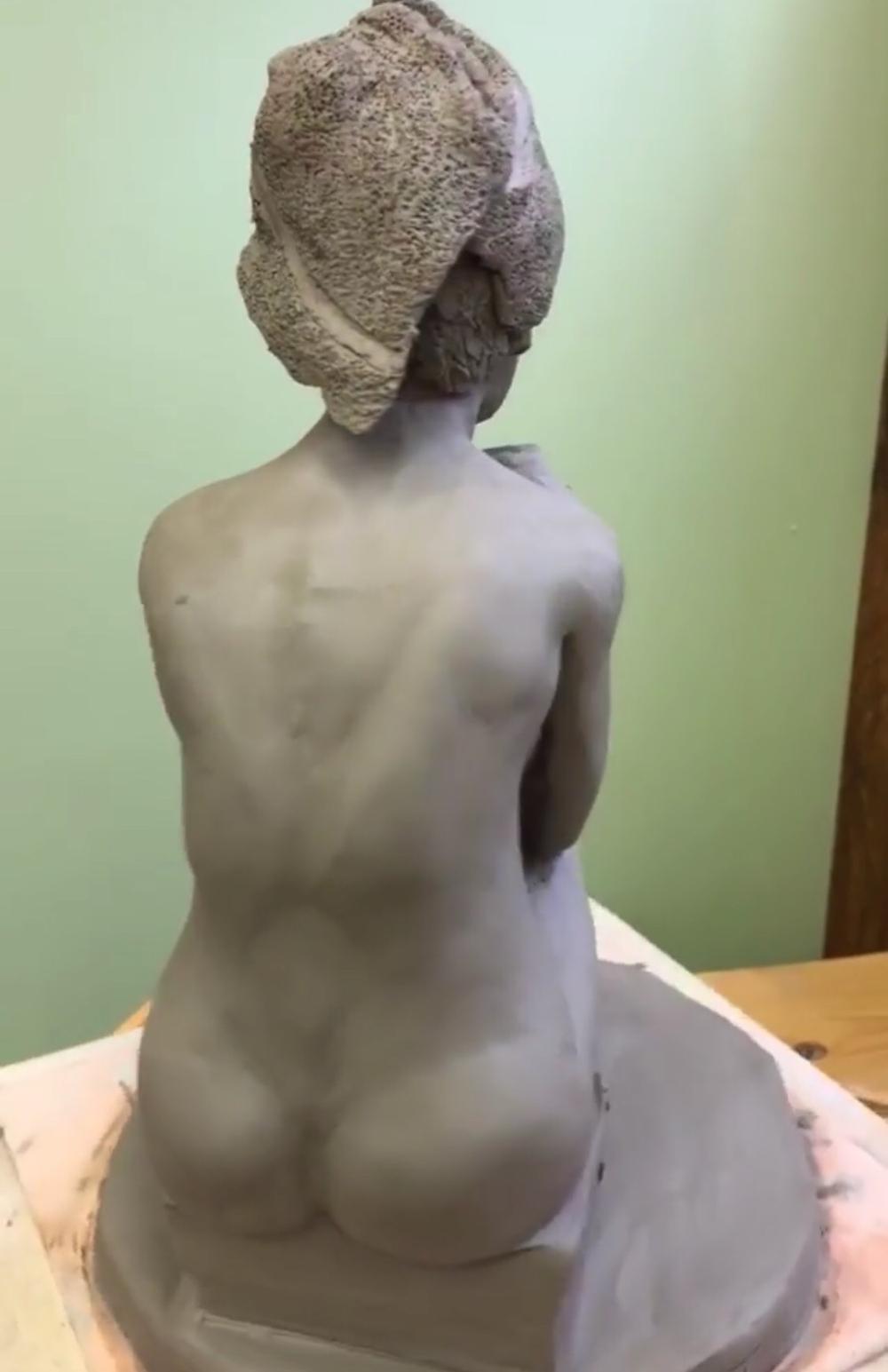 """Bathroom Break"" Sculpture created by Dr. De La Cruz, Houston Plastic Surgeon"