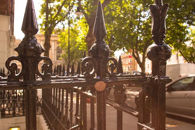 Entrance gate of 14 Clerkenwell Green, London