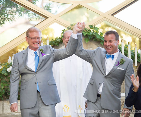 Wayfarer's Chapel Gay Wedding