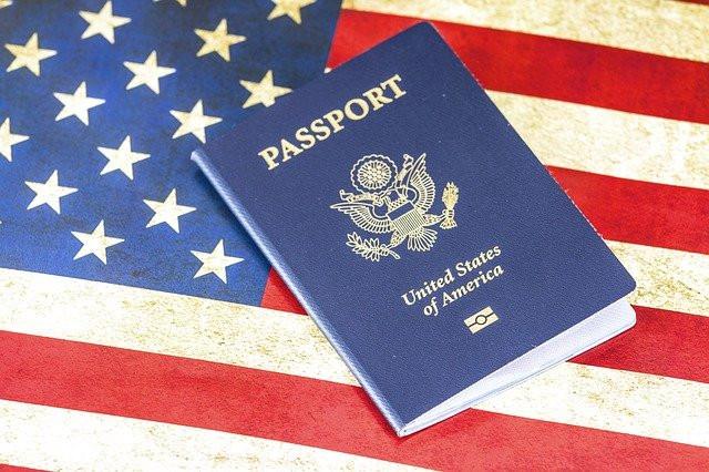 United States passport US flag