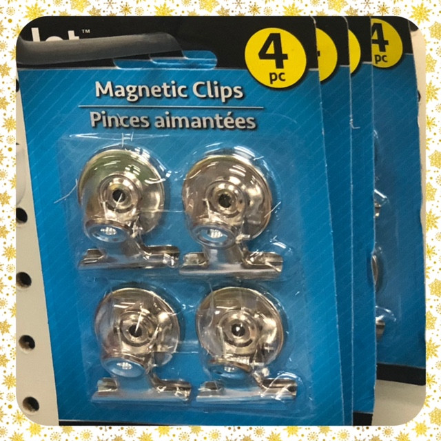 blue package with four matnetic clips