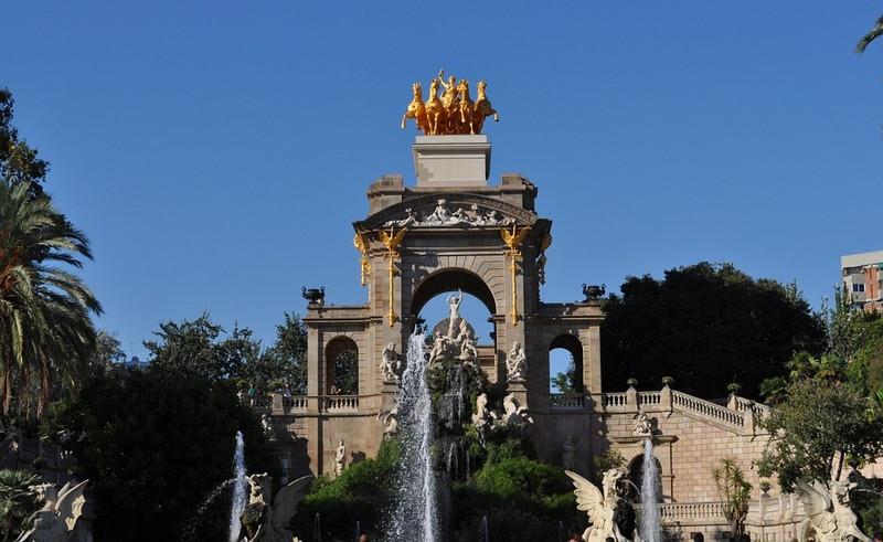 Ciutadella Park Barcelona fountain statues