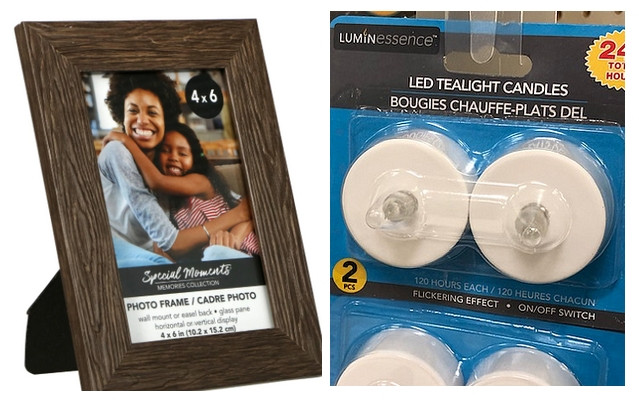 collage with wood photo frame holding photo of black woman and child, flameless tea candles