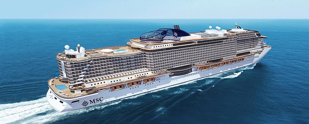 MSC cruise ship ocean