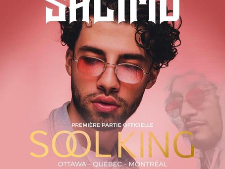 SALIMO en première partie du rappeur français Maes, le 21 mars
