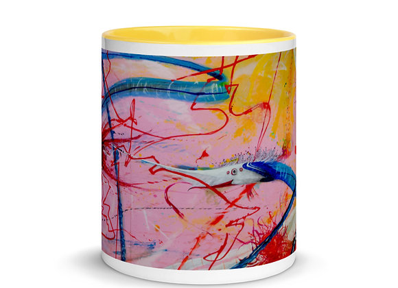two faces Mug with Color Inside