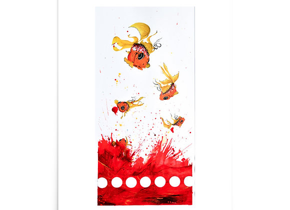 Disposable Goldfish art print