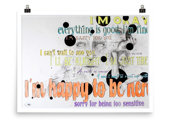 Juxtaposition of Depression art print