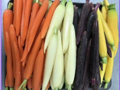 """Mexican Hand-Carved Peeled """"Rainbow"""" Carrots (5 lb)"""