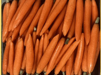 Mexican Hand-Carved Peeled Orange Baby Carrots (5 lb)