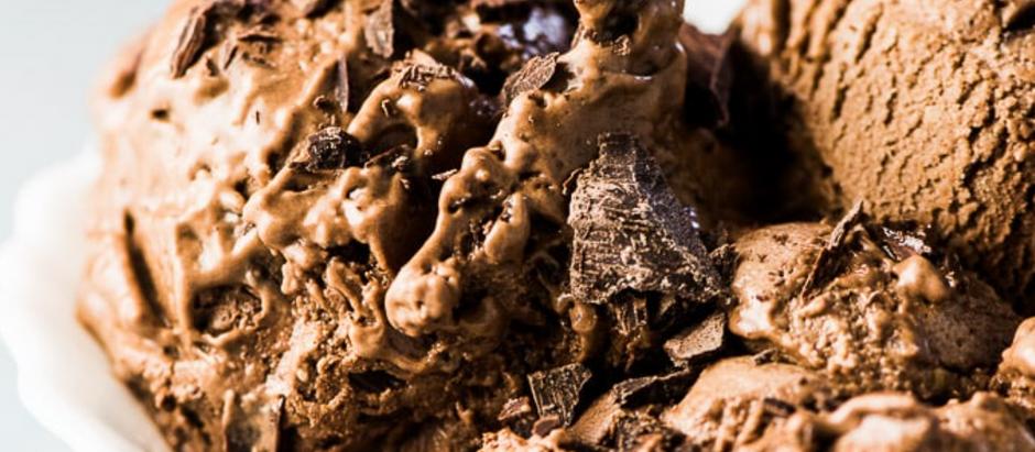 3-Ingredient Choc Almond Ice-cream