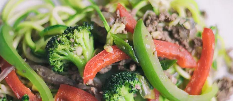 Ground Beef And Zucchini Stir-Fry