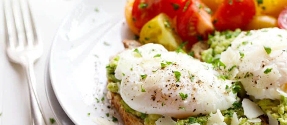 Simple poached eggs and avocado toast