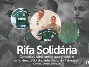 Engenheiro rio-pretense realiza rifa solidária de camisa do atacante Dudu, do Palmeiras