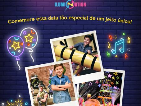 Faça sua festa no Ilumination Park