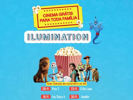 Cinema grátis no Ilumination Park todos os sábados de novembro!