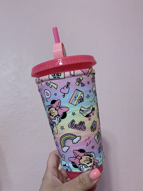 Retro Minnie Pastel Cup Sleeve