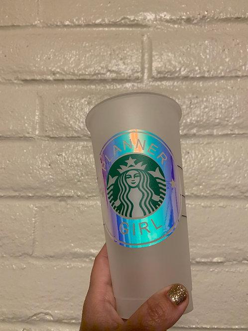 Planner Girl Starbucks tumbler