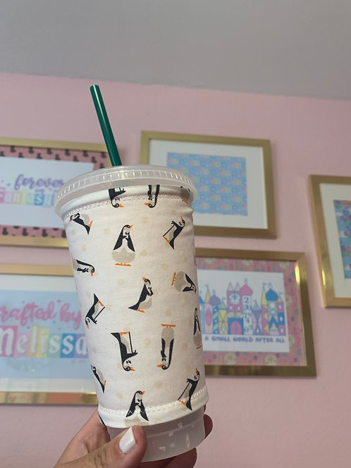 Mary Poppins Penguins Starbucks Cup Sleeve