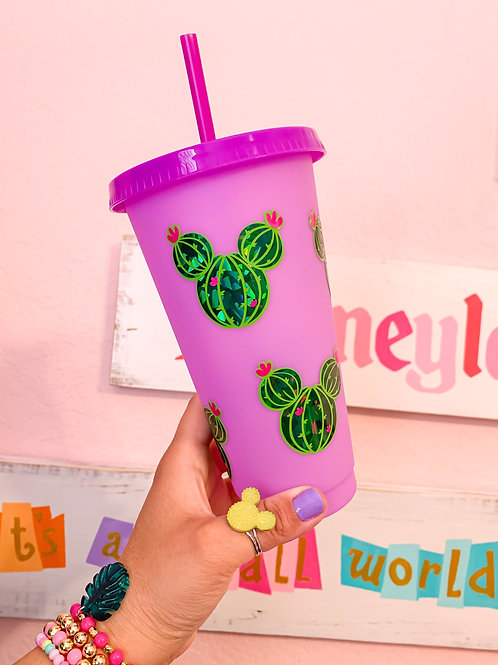 Mickey Cactus Color Changing Tumbler