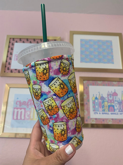 Rapunzal Lantern  Starbucks Cup Sleeve